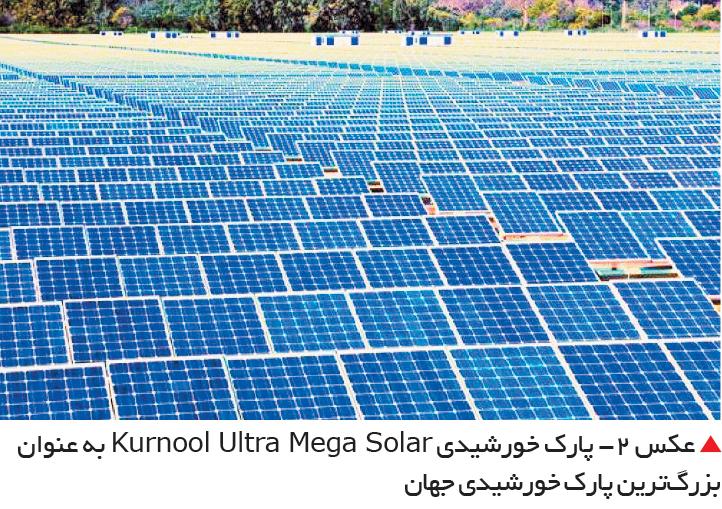 تجارت- فردا-  عکس 2- پارک خورشیدی Kurnool Ultra Mega Solar به عنوان بزرگترین پارک خورشیدی جهان