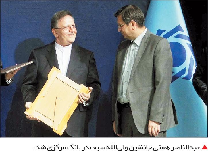 تجارت فردا-  عبدالناصر همتی جانشین ولیالله سیف در بانک مرکزی شد.
