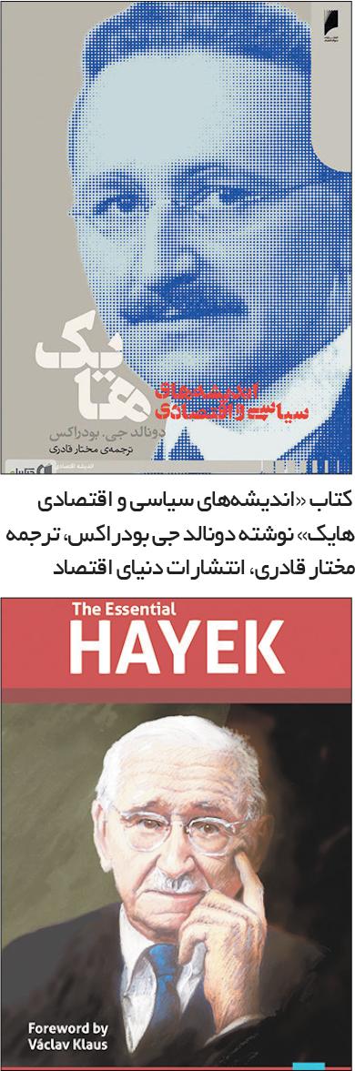 تجارت- فردا-  کتاب «اندیشههای سیاسی و اقتصادی هایک» نوشته دونالد جی بودراکس، ترجمه مختار قادری، انتشارات دنیای اقتصاد